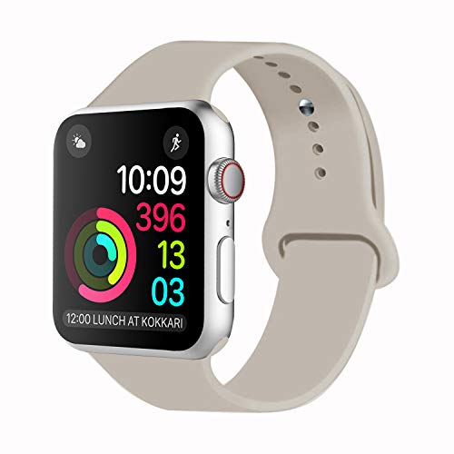 iDon Smart Watch Sport Band, Soft Silicone Replacement Sports Band Compatible for Apple Watch Band 2017 Series 3 Series 2 Series 1 38MM/42MM Apple Watch All Models