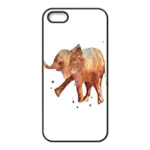 Fashion Watercolor Painting Unique Elephant Durable Protector Back Cover Case for iPhone 5 5s TPU