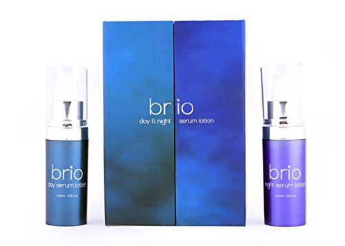 Brio Day And Night Anti Aging Serum – Best Skincare Face Serum & Eye Serum With Hyaluronic Acid And Vitamin C & E