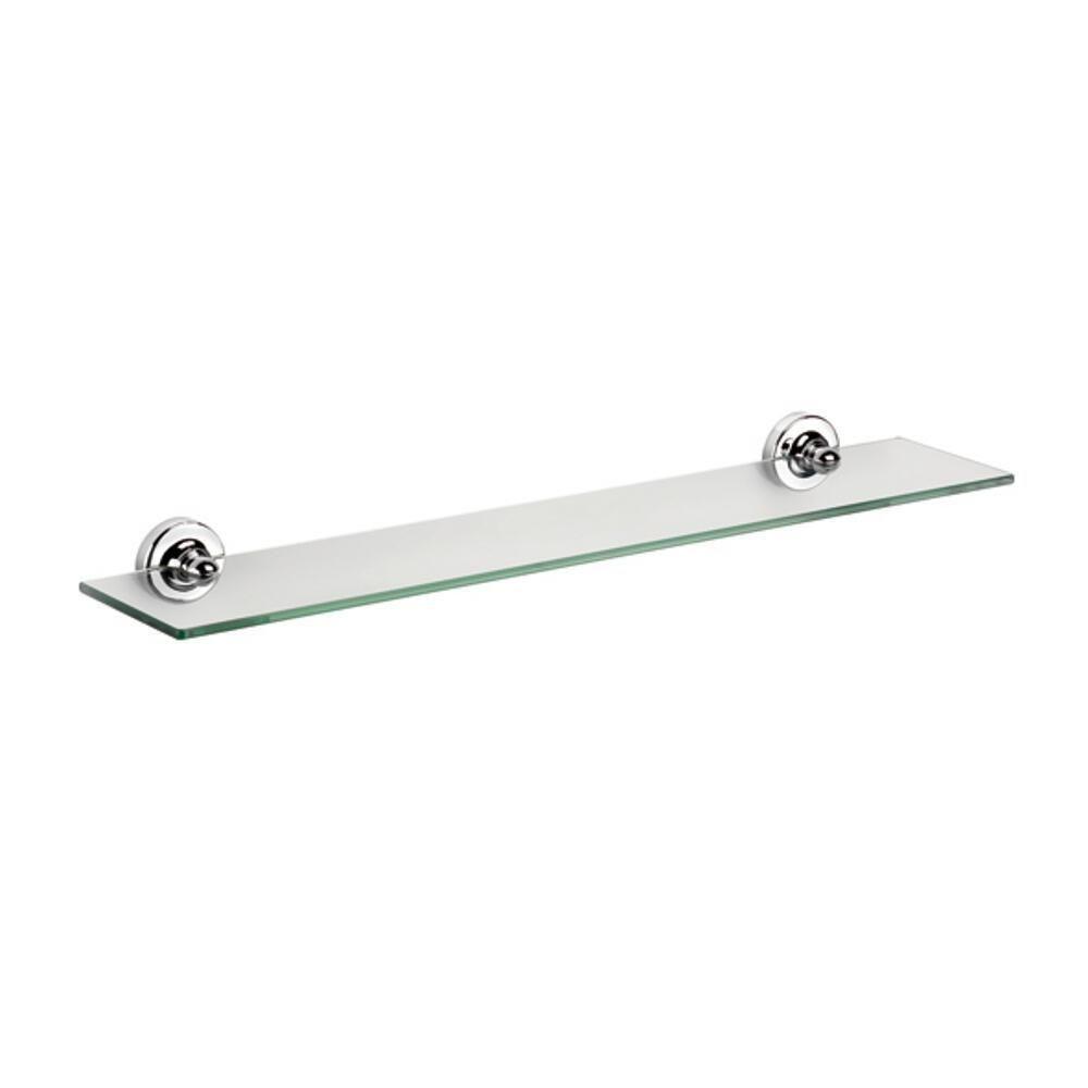 Croydex QM461441YW Worcester Glass Shelf, Chrome