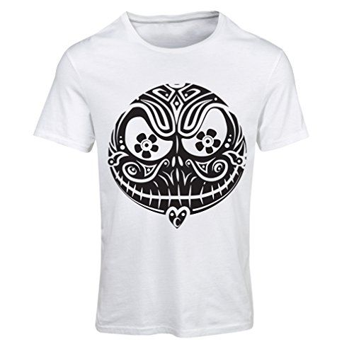 T Shirts for Women The Skull Face -The Nightmare - Scary Halloween Night (X-Large White Multi Color) -