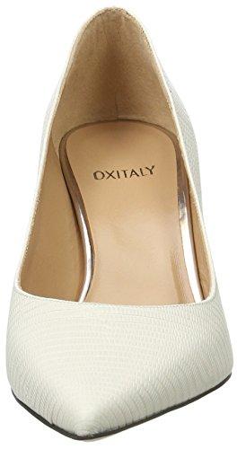 Oxitaly Damen Stefy 100 Pumps Weiß (WHITE)