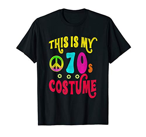 This is My 70s Costume Shirt Groovy Peace Halloween Tee