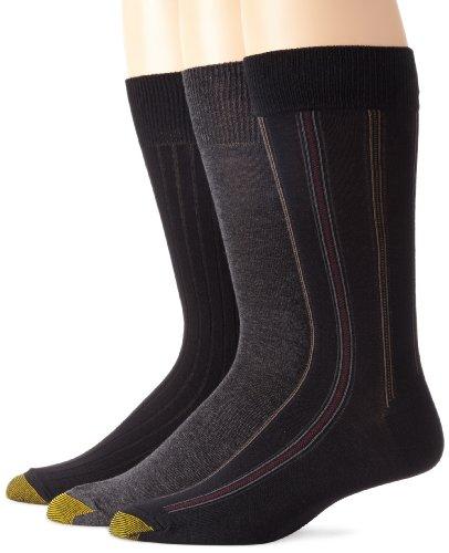 Gold Toe Mens Classic Stripe 3-Pack Dress Socks