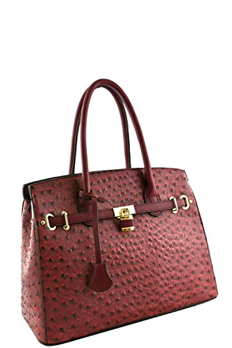 womens-designer-faux-leather-ostrich-padlock-top-handle-bag-va2013-wine