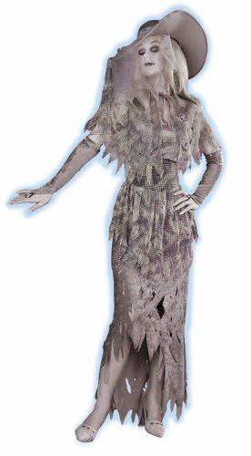 Halloween Costumes Womens (GHOSTLY GAL, Standard (14-16), Gray/White)