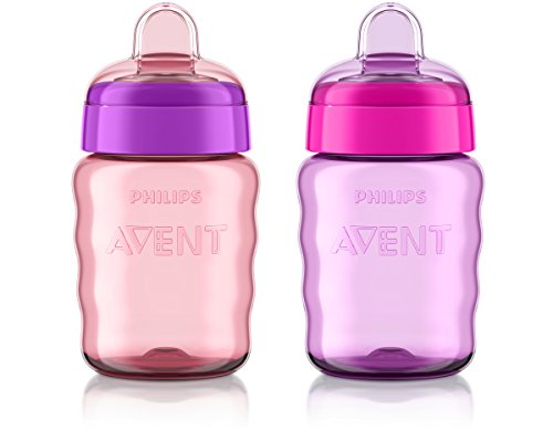9 Ounce Sippy Cup (Philips Avent My Easy Sippy Cup, 9 Ounce, Pink/Purple, Stage 2 (colors may vary))