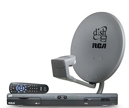 dish network satellite tv complete system diy kit: dish 301 receiver, dish  500 antenna, remote, accessories: electronics