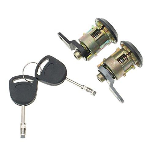 MagiDeal 2Pcs Lockcraft Door Lock Cylinder + 2 Keys KIT For Ford KA Fiesta