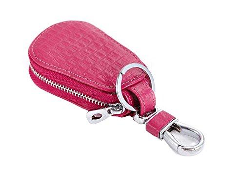 Key Wallet Leather Car Key Holder Key Pouch Holder Zip Keychain Case for Women