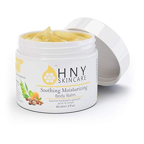 (HNY Skincare Soothing Moisturizing Body Balm, 2 Ounce - 100% All Natural - With Manuka Honey and Vitamin E - For All Skin)