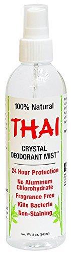 Thai Deodorant Stone Thai Crystal Mist Pump, 8 Fluid Ounce (Deodorant Crystal Spray Mist)