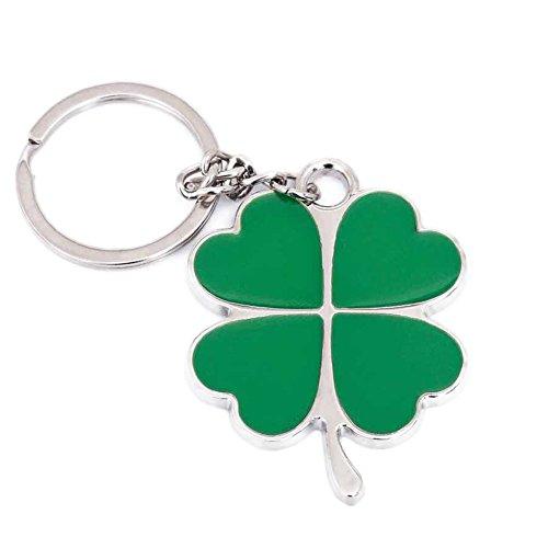 Sunliy Creative Key Ring Keychain Four-Leaf Clover Key Buckle Plastic Color Keychain Pendant Simulation Key Charm Bag Accessories 53.540.52.5mm
