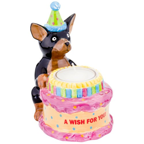 Animal World - Chihuahua With Birthday Hat Birthday Candle Holder