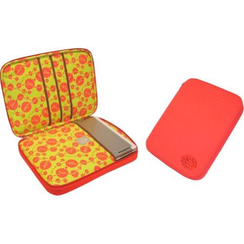 Amy Butler Nola Cushioned Laptop Sleeve,Cotton Vine Tomato,one size