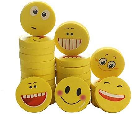 Peoenss 100x Smile Rubber Eraser Papelería para niños ...