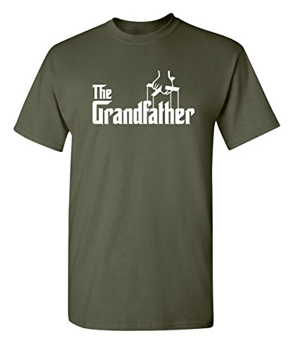 - The Grandfather Gift for Dad Fathers Day Mens Novelty T Shirt S Military