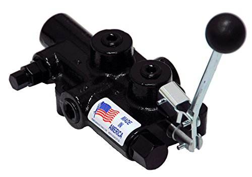 Prince Manufacturing LSR-3060-3 Rapid Extend Log Splitter Valve, 4 Ways, 3 Positions, Cast Iron, Lever Handle, 3500 psi, 4 GPM Inlet Flow Rating, In/Out: 1/2'' NPTF, 3/4'' NPTF Work, Gloss Black by Prince Manufacturing