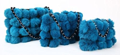 Sacs Hiver Vogueearth Cabas menotte Sacs Femme'Réel De à main Bleu Chaud portés Pochettes Plus portés Sacs épaule Fourrure s baguette Lapin Main Sacs bandoulière Sacs Sac qrvIRgwr