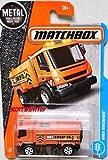street sweeper - Matchbox 2017 MBX Adventure City MBX Swisher (Street Sweeper) 16/125, Orange
