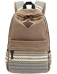 Stripe Canvas School Backpack College Campus Bag Rucksack Satchel Travel Sports Outdoor Travel Gym Bag Schoolbag...
