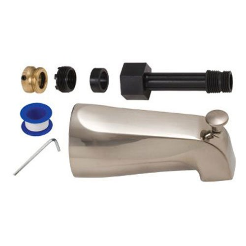BrassCraft SWD0450 D Mixet Diverter Tub Spout, PVD Satin Nickel by BrassCraft Mfg