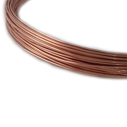 1 Ounce (8 Ft) Solid Copper Wire 16 Gauge, Round, Dead Soft - from Craft Wire
