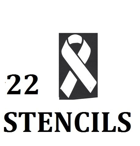 Multiple sclerosis ( MS ) Awareness Collection (32 Tattoo Glitter Airbrush Stencil Ribbon) ()