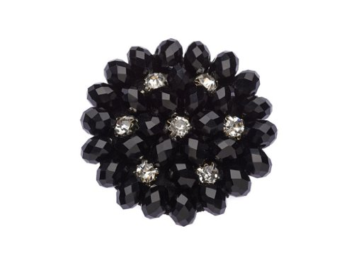 La Loria Shoe Clips for Woman'Black Beauty' Shoe Embellishments Brooches, Shoe Jewelry in colour black, 1 Pair