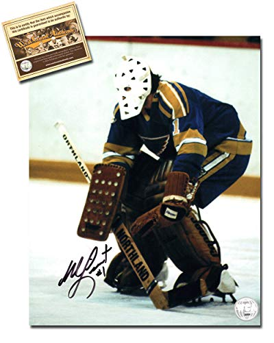 - Mike Liut Autographed Signed 8x10 Hockey Photo Memorabilia Certified with WCA Dual Authentication Holograms and COA