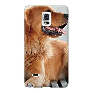 JacquieWasylnuk Samsung Galaxy Note 4 Shock-Absorbing Cell-phone Hard Cover Unique Design High Resolution Dogs Pets Golden Retriever Pictures [KHa23598rCVD]