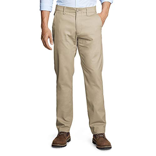 Eddie Bauer Men's Flex Sport Wrinkle-Resistant Chino Pants, Lt Khaki Regular 32/ (Eddie Bauer Pants)