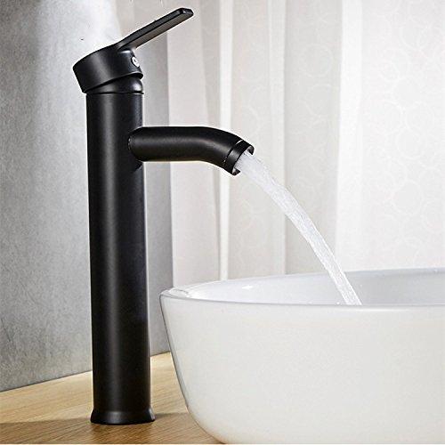 JWLT Im Europäischen Stil schwarz heißen und kalten Wasserhahn Waschbecken, Podium, Waschbecken, Waschbecken, Waschbecken und Wasserhahn, Schwarz Höhe