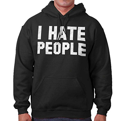 Brisco Brands I Hate People Funny Shirt Introvert Antisocial Cute Hoodie - Hate People Hoodie I
