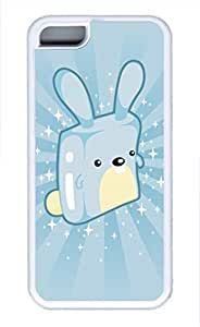 iPhone 5c case, Cute Blue Rabbit iPhone 5c Cover, iPhone 5c Cases, Soft Whtie iPhone 5c Covers