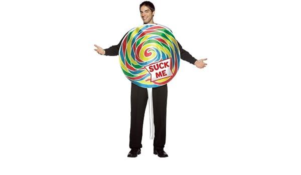 Desconocido Disfraz piruleta para hombre: Amazon.es: Juguetes y juegos