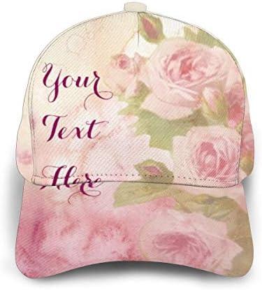 NR Charmant Vintage Rose Doux Rose Floral Aquarelle Unisexe Impression 3D Casquette Casquette de baseball R/églable Snapback Casquettes Trucker Chapeaux de Sport Chapeau pour Hommes Femmes