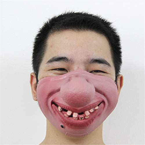 Funny&Scary of Half Face Clown Latex Masks for Cosplay Costume/Halloween Party Decoration Supplies No2 ()