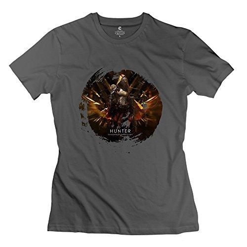 Fire-Dog Women's Destiny Games Hunter T-shirt Size S DeepHeather