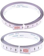 Set van 2 zelfklevende meetlint metrische stok liniaal, 300cm, rechts naar links en links naar rechts
