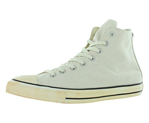 Converse  Chuck Taylor All Star Homme Vintage Washed Back Zip Twill Hi,  Herren Sneaker Weiß - Vintage Washed Twill Turtledove