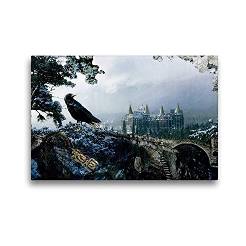 CALVENDO Toile Murale décorative en Tissu Motif Oiseau Magique 45 x 30 cm