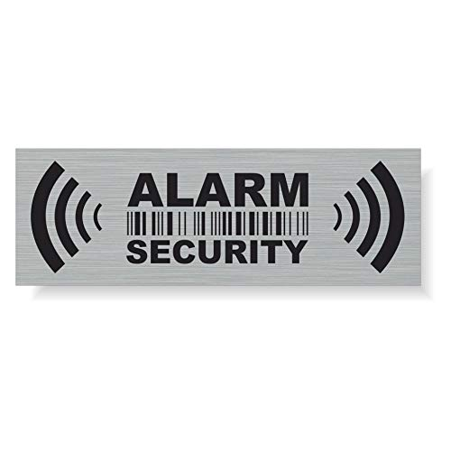 20 x Security Alarm Warning Sign Stickers - for Internal and External use - Protection for Home, car. - Weatherproof - Size: 2,9 x 1 in -