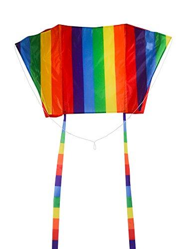 In the Breeze Sled Kite - Single Line Frameless Kite - Rainbow Stripe, 30