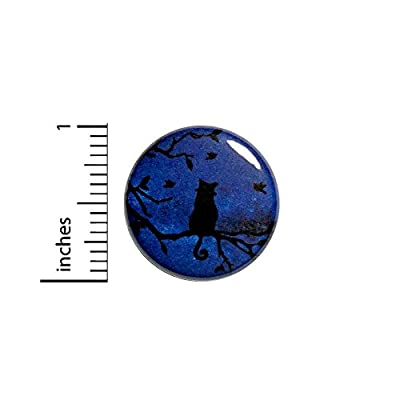 "Cute Night Sky Cat In Tree Galaxy Fantasy Rad Cool Jacket Backpack Pin 1"" #48-11"