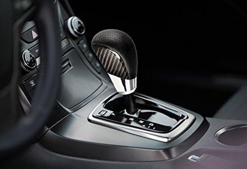 VIP Real Carbon Fiber PVC Leather Manual MT Gear Shift Shifter Knob Universal 4