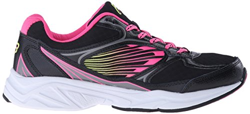 Fila 3 Inspell Zapatilla deportiva negro, amarillo, rosado claro (Black/Knockout Pink/Safety Yellow)