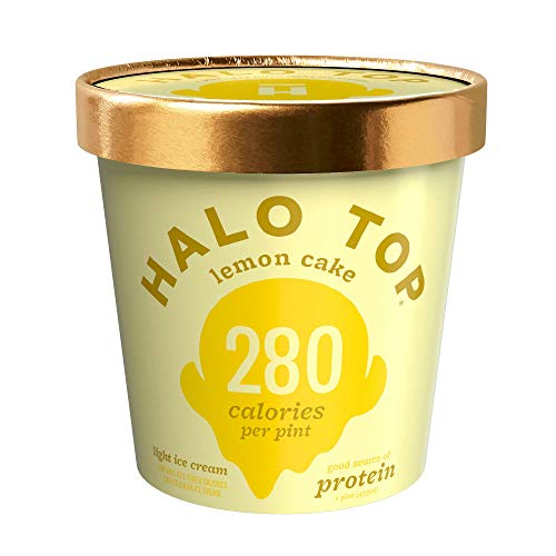 Halo Top, Lemon Cake Ice Cream, Pint (4 Count) (The Best Halo Top Flavors)