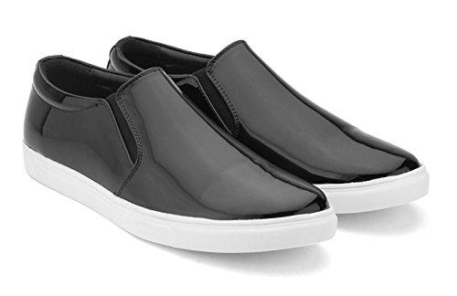Gekko Mens Shoes-31 - Zapatos de Cordones de Ante Para Hombre Negro Negro 44