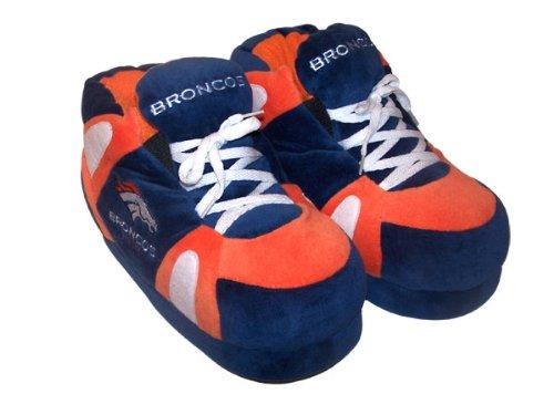 Herren lizenzierte Damen und Hausschuhe Happy für NFL Feet Denver Comfy Offiziell Feet Broncos Sneaker wnzzqZ1p6